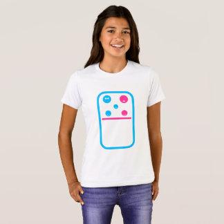 Chica del dominó de la fruta de la familia camiseta