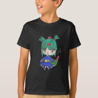 chica del dragón corregido camiseta
