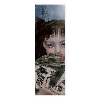 Chica del dragón de la señal plantillas de tarjeta de negocio