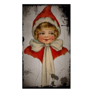 Chica del duende tarjetas de visita