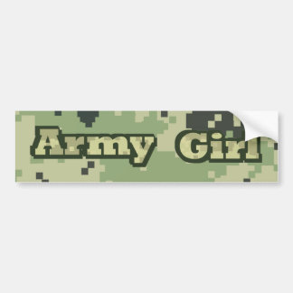 Chica del ejército pegatina para coche