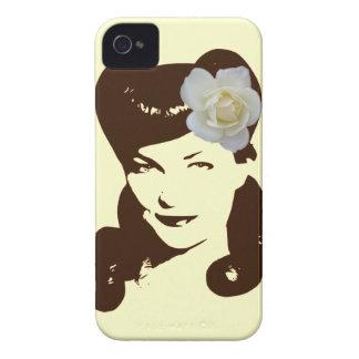 Chica del encanto del vintage Case-Mate iPhone 4 carcasa