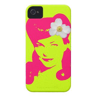Chica del encanto del vintage iPhone 4 Case-Mate coberturas