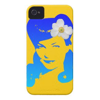 Chica del encanto del vintage iPhone 4 Case-Mate protector