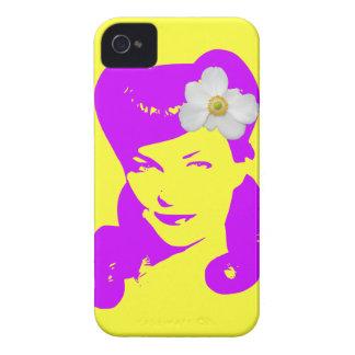 Chica del encanto del vintage iPhone 4 fundas