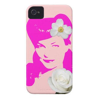 Chica del encanto del vintage iPhone 4 protector