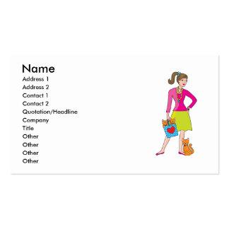 Chica del encanto tarjetas de visita