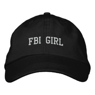 CHICA DEL FBI GORROS BORDADOS