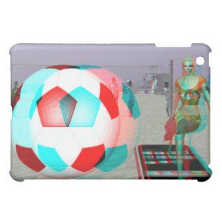 chica del fútbol de la playa 3D del caso del iPad
