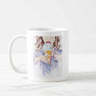 Chica del helado taza de café