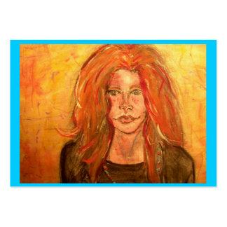 chica del hippie de la hermana del alma tarjetas de visita grandes