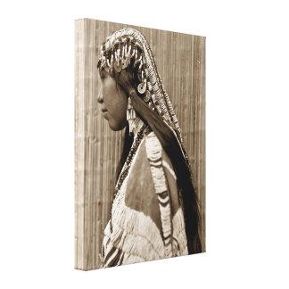 Chica del indio del nativo americano de Wishran Impresión En Lienzo Estirada