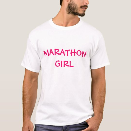 Chica del maratón camiseta