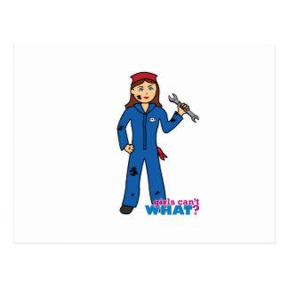 Chica del mecánico postal
