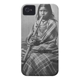 Chica del músico de Siux blanco y negro Case-Mate iPhone 4 Carcasas