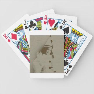 Chica del payaso baraja cartas de poker