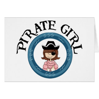 Chica del pirata tarjetas