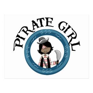 Chica del pirata postales