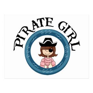 Chica del pirata tarjeta postal