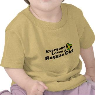 Chica del reggae camisetas