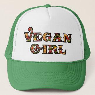 Chica del vegano gorro de camionero