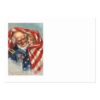 Chica del veterano de guerra de la bandera de los  tarjeta de visita