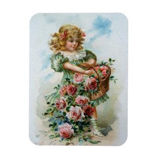 Chica del Victorian con los rosas Iman