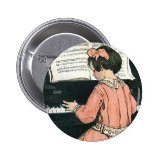 Chica del vintage, música, piano, Jessie Willcox S Pin