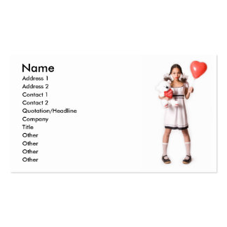 Chica en amor tarjeta personal