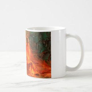 Chica en el fuego - arte apasionado atractivo taza de café
