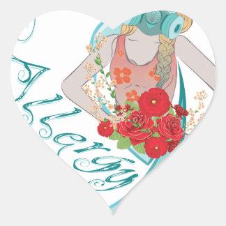 Chica en Gasmask Allergy2 Pegatina En Forma De Corazón