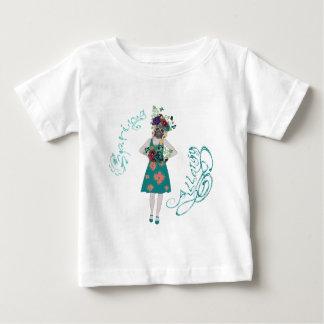 Chica en la alergia de Gasmask Camiseta De Bebé
