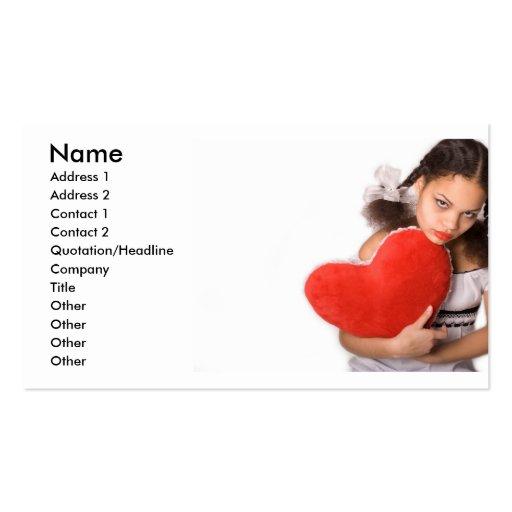 Chica en Love_3 Plantilla De Tarjeta De Negocio