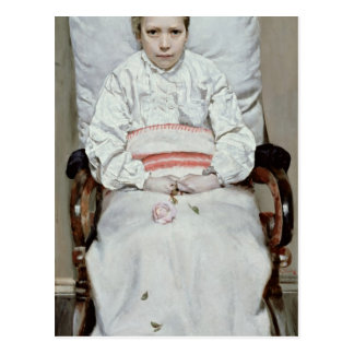Chica enfermo tarjetas postales