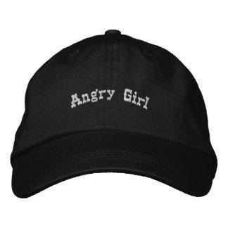Chica enojado gorras de béisbol bordadas