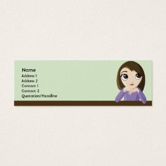 Chica - flaco tarjeta de visita mini