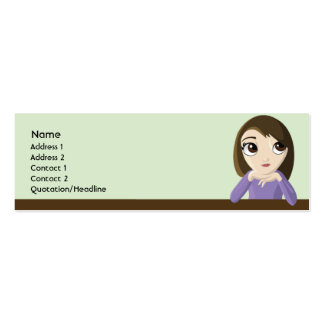 Chica - flaco tarjetas de visita mini