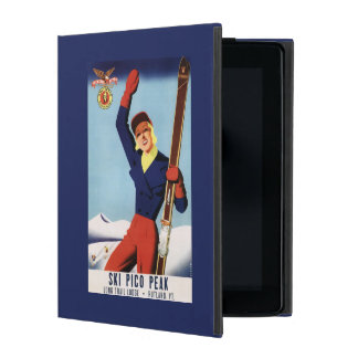 Chica flexible del esquí del Pin-Para arriba del iPad Fundas