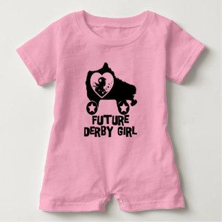 Chica futuro de Derby, diseño del patinaje sobre Body Para Bebé