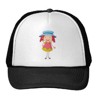chica gorras de camionero