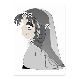 Chica gótico del fantasma tarjetas de visita grandes