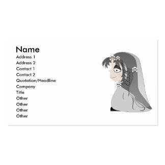 Chica gótico del fantasma tarjetas de visita