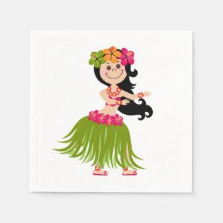 Chica hawaiano servilleta de papel