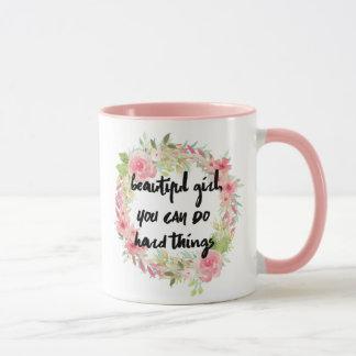 Chica hermoso USTED PUEDE HACER la taza DURA de
