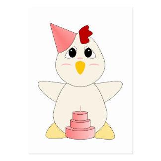 Chica Huggable del cumpleaños del pollo Tarjetas De Visita Grandes