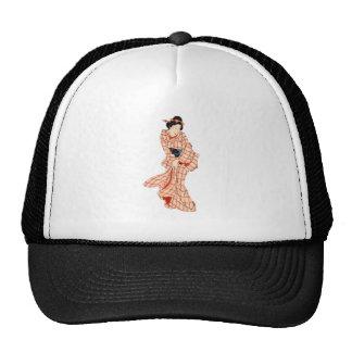 Chica japonés gorras