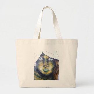 Chica joven bolsas lienzo