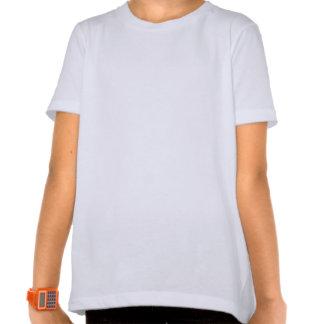 Chica libre del rezo elegante camisetas