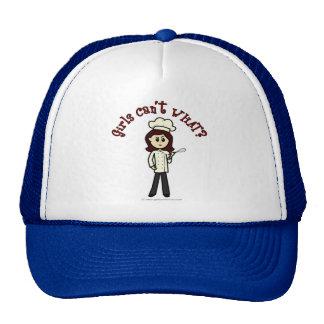 Chica ligero del cocinero gorra
