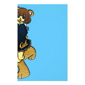 Chica lindo del oso de la caloría papelería